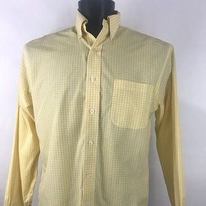 Men's Brooks Brothers Yellow Plaid Shirt